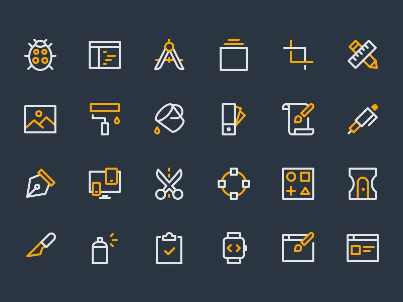 Design & Dev Icons vector editor crop text nucleo icon icons development design