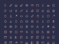 Nucleo food icons full