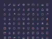 Nucleo food icons full