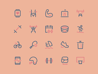 Sport Icons - Update icons pack icons set icons design nucleo icon bodybuilding training fitness gym sport icons
