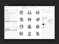 Icon Editor stroke library manager nucleo app icons icon