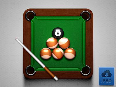 Billiard icon dribbble 2