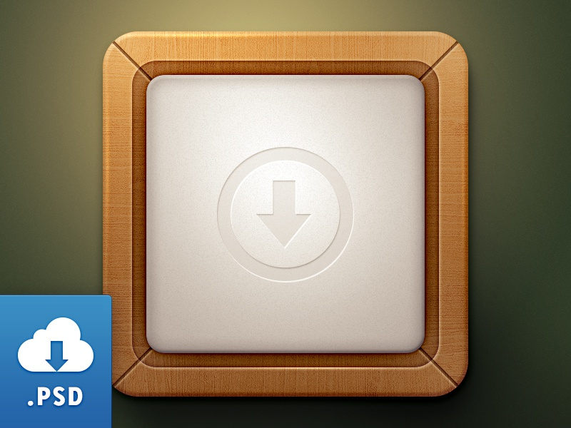 Wood Style App [Free Mockup] free freebie app icon retina 2x iphone ios
