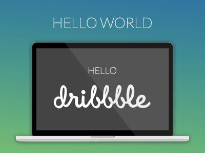 Hello Dribbble sketch