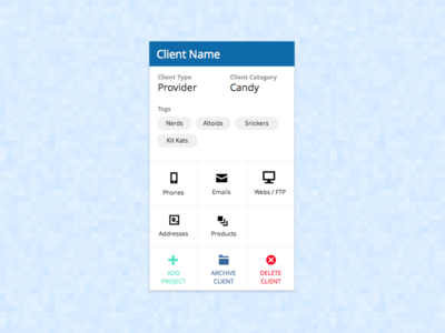 Dashboard - Client Card