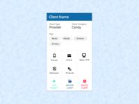 Dashboard - Client Card