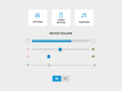 Device Settings / Volume - Testing Options testing settings volume