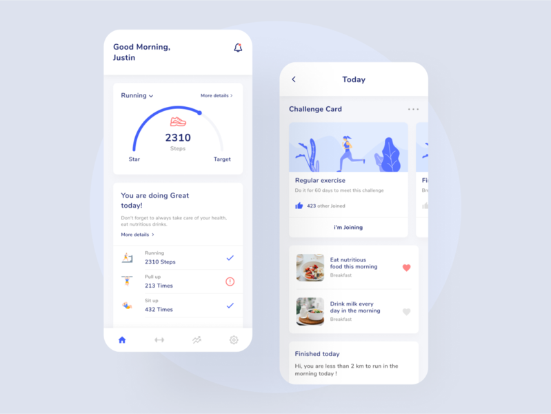 Training Fitness App - UI training fitness illustration mobile mobile app design daily app uiux ux ui ui design design