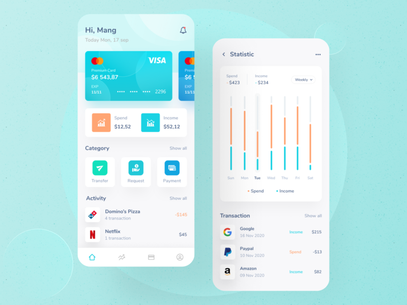 Finance App - UI balanced finance statistic activity white mobile app design mobile app daily ux uiux ui design ui design