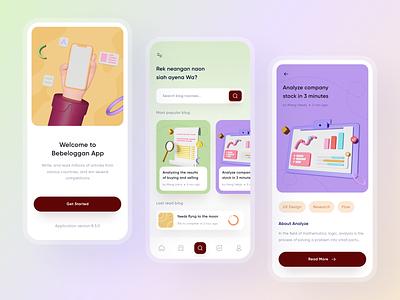 Blog App - UI Design clean design graphic design 3d branding illustration daily ux uiux ui design ui design