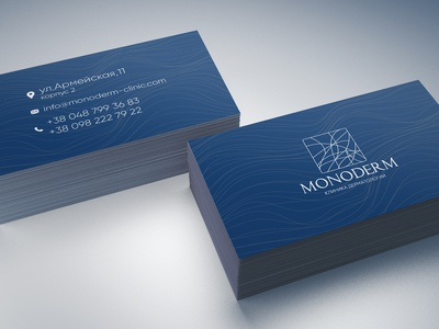 Logo and business card design for dermatology clinic Monoderm