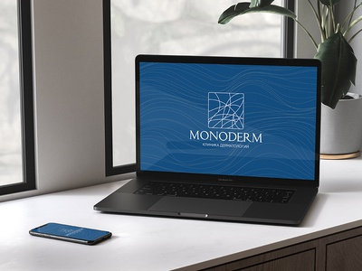Logo design and identity for dermatology clinic Monoderm