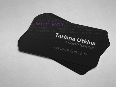 business card English teacher