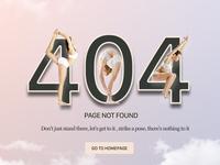 404 Yoga pose Page