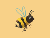 Wild Bee Parade wild bee parade wilde bijen parade cute procreate ipad pro illustration book illustration bumblebee bee
