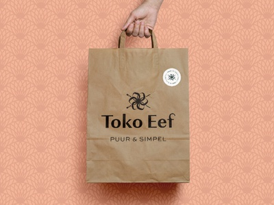 Brand identity for healthy Asian street food restaurant Toko Eef clean logo designer logo design branding agency pattern restaurant asian streetfood asian food toko toko eef brand identity branding