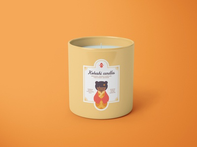 Passion Project ✨  Kokeshi Candles branding candle label packaging design packaging branding concept seasons greetings seasons cute illustrations branding and identity logo design branding design kokeshi kokekshi doll cute illustration kawaii cute branding passion project