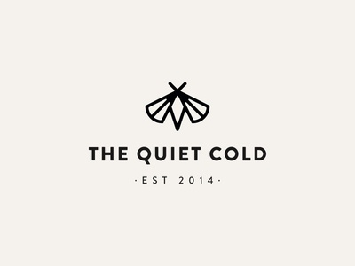 Logofolio: The Quiet Cold logofolio logo inspiration logodesign the quiet cold personal blog brand identity branding minimal moth logodesigner logo