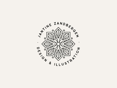 Logofolio: Jantine Zandbergen logo design graphic design minimal branding clean symmetry illustrator vector mandala logobadge logodesigner logo
