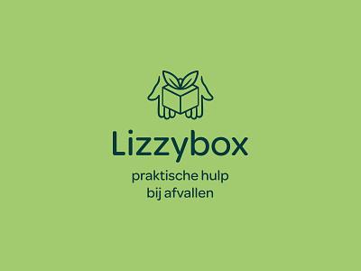 Lizzybox Branding: The Logo brand design branding and identity logodesign logo badges food branding healthy green lizzybox logo branding