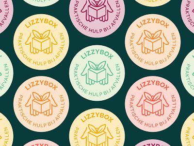 Lizzybox Branding: Logo badge brand design branding and identity logodesign food branding logo badge healthy green lizzybox logo branding