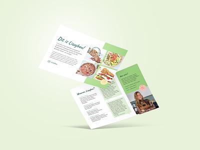 Lizzybox Branding: Flyer graphic designer clean flyer designer lizzybox healthy green branding and identity branding graphic design flyer design flyer