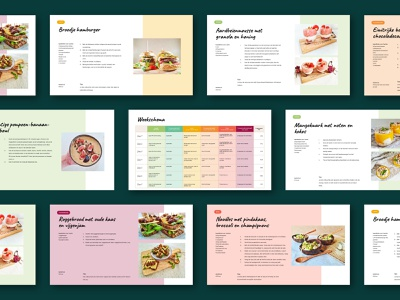 Lizzybox Branding: Template lizzybox food branding healthyfood green healthy week schedule graphicdesign templatedesign template