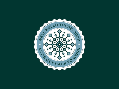 Hello 2021, let's get back to work! ✨ branding clean design illustration vector symmetry illustrator back to work new year 2021 happy 2021 logodesigner logo badge logobadge logodesign logo snowflake