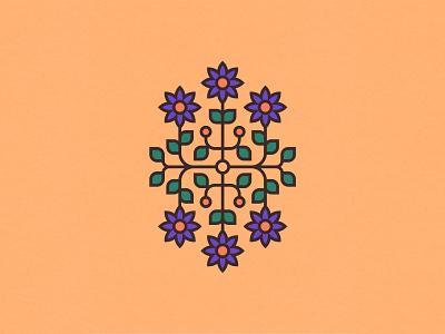 Spring Flowers 1/3 minimal flowershop graphic design clean geometry vector adobe illustrator spring flowers symmetry illustration