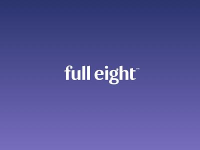 FullEight visual identity: Primary logo fulleight clean logotype logo design branding rls sleep purple haelsum full eight brand identity brand design logo