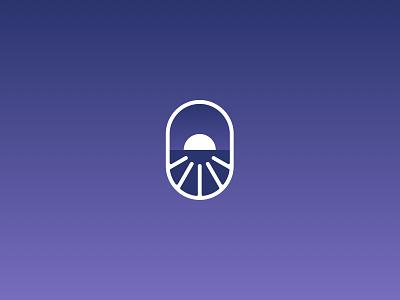FullEight visual identity: Submark clean logo design sleep rls brand identity branding logomark sunrise sunset purple haelsum fulleight full eight brand identity brand design logo