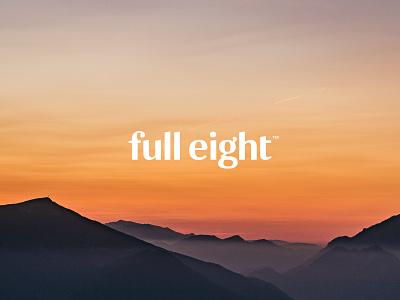 FullEight visual identity: Kind words sunrise sunset clean logotype logo design branding rls sleep haelsum fulleight full eight brand identity brand design logo