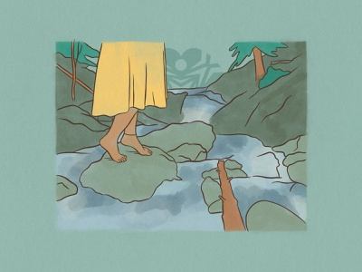 Illustration for 'Power up!' by PODER Colorado ✦ 2 of 5 yellow green river colorado nature procreate drawing illustration