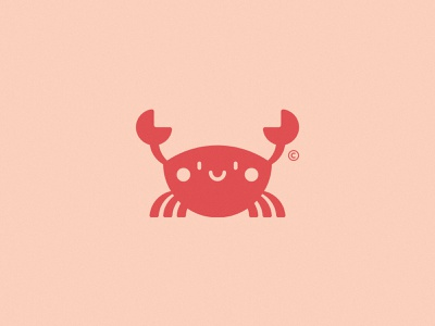 The Little Wave: Icon creative glow challenge clean branding logomark logo cute icon crab the little wave