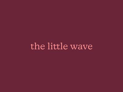 The Little Wave: Word mark swimwear red clean word mark kids branding brand identity logo branding creative glow challenge the little wave
