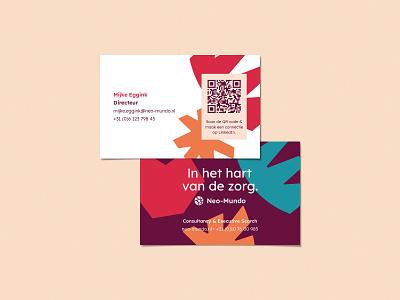 Neo-Mundo branding: Business cards healthcare graphic design logo designer brand identity branding neo-mundo business card