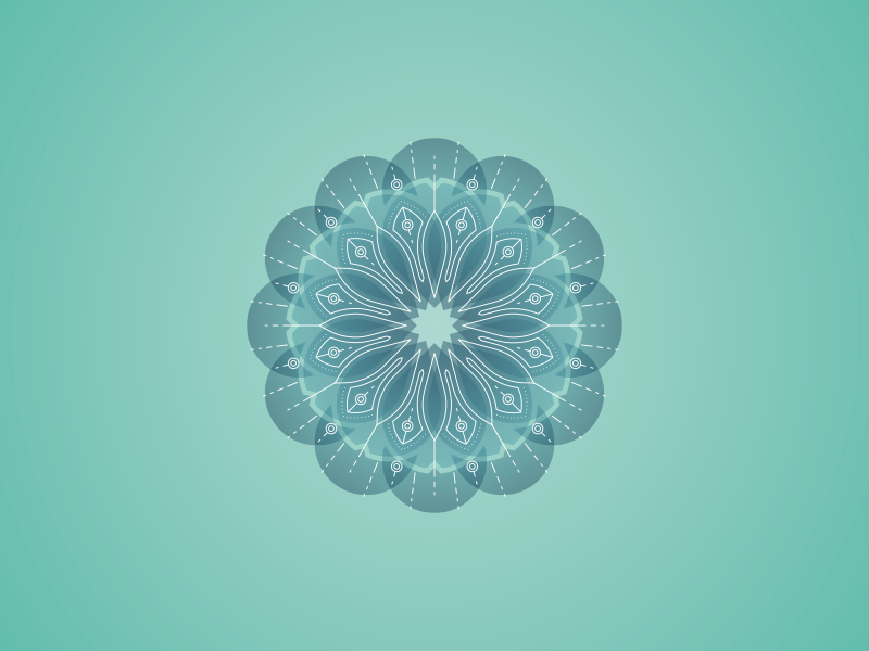 Mandala.. 2.0? vector illustration flower aqua green geometry sacred geometry mandala