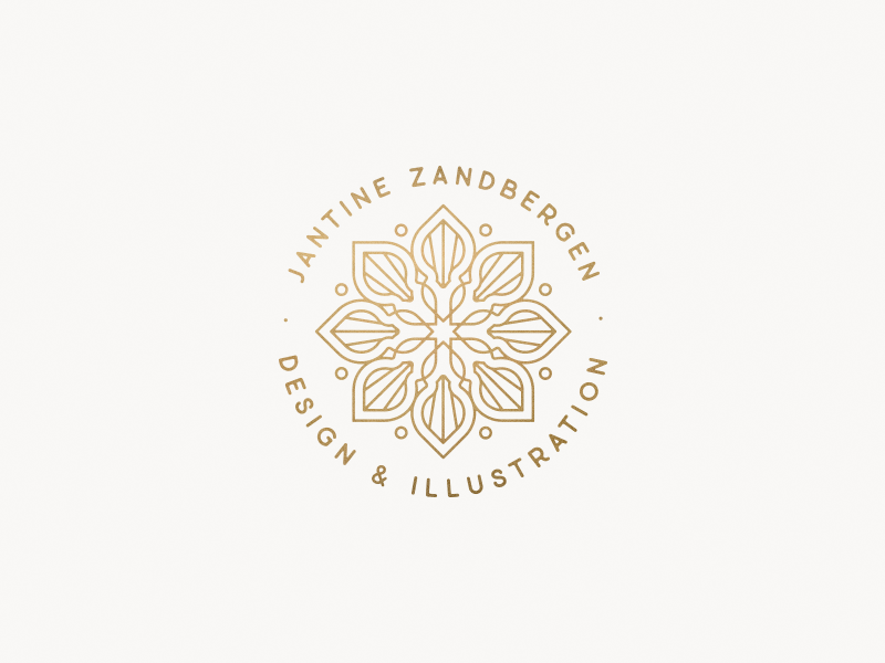 Mini mandala 'badge' minimalism clean illustrator vector sacred geometry symmetry logo mandala