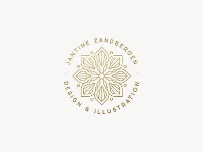 Mini mandala 'badge' minimalism clean illustrator vector sacred geometry symmetry logo mandala