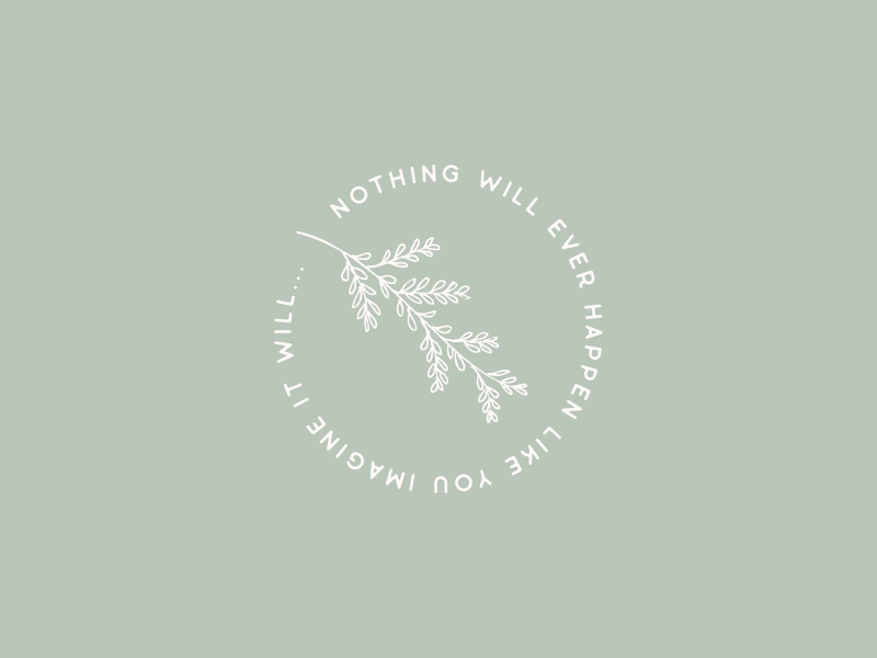 Nothing will ever happen like you imagine it will... illustrator vector illustration graphic design clean circle hand drawn minimalism paper towns john green quote nature