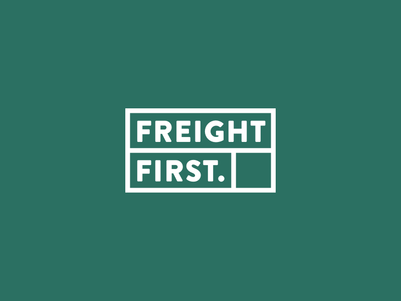 30 Day Logo Challenge IV - Freight First logoaday branding agency simple clean green freight blocks branding logo logocore 30 day challenge 30 day logo challenge