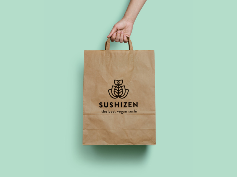 30 Day Logo Challenge V - Sushi Zen minimal green vegan takeout food clean brand identity branding logocore sushi zen sushi logo a day 30 day challenge 30 day logo challenge