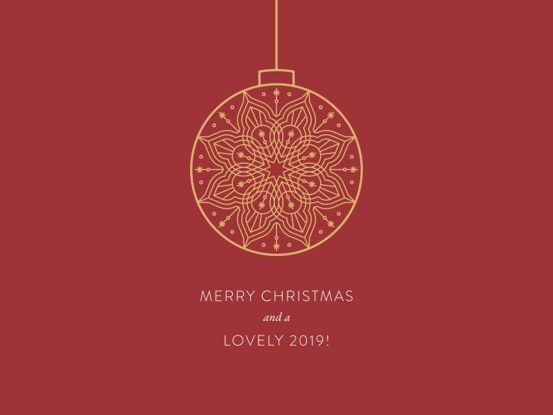 Merry Christmas! christmas ball christmas card red graphic design minimal clean symmetric vector geometry mandala holiday illustration christmas