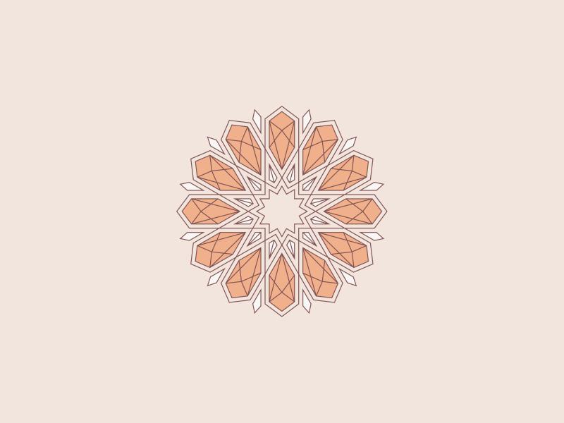 Sacred Geometry Mandala minimal design illustration clean geometry symmetry illustrator mandala vector