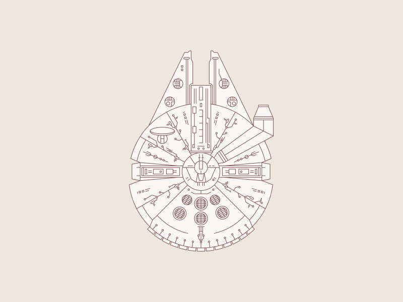 May The Fourth Be With You clean illustration graphic design space design geometric scifi space vector skywalker may the fourth be with you may the fourth millenium falcon star wars