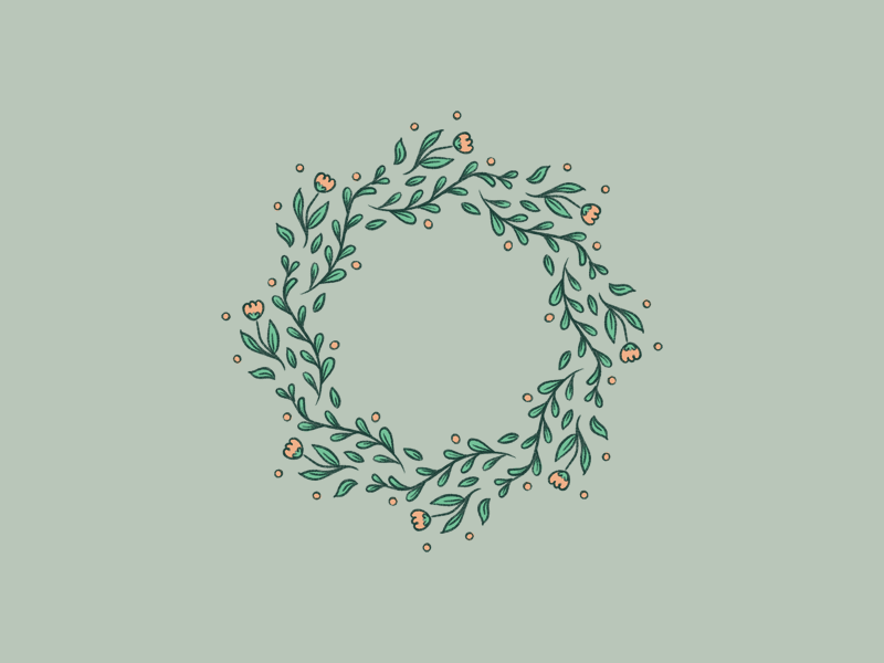 Flower wreath in ProCreate hand drawn mandala symmetrical symmetry floral procreate flowers flower wreath