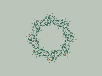 Flower wreath in ProCreate