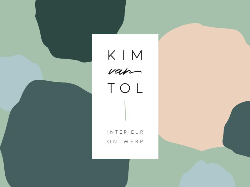 Kim van Tol Interior Design: Logo logo design clean design clean minimal green interior designer interior design kim van tol kim visual identity branding logo