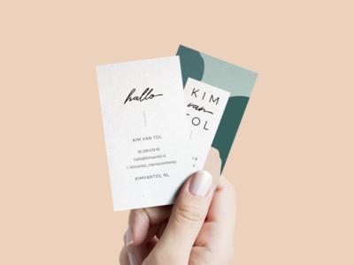 Kim van Tol Interior Design: Business Card