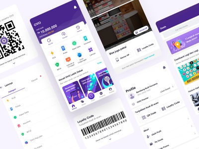 New OVO Homepage mobile app ui interface mobile wallet finance design app